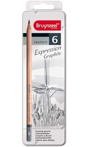 Bruynzeel Expression Set of 6 Graphite Pencils