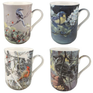 Robert Bateman Set of 4 Bird Mugs from McIntosh