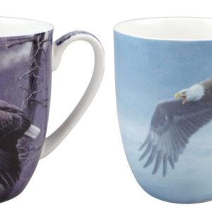 Robert Bateman Bald Eagle Mug Pair
