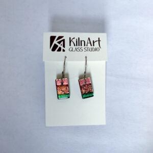 Rainbow Dichroic Glass Earrings by Kiln Art Studio
