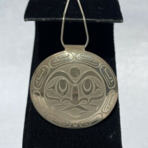 Sterling Silver Moon Necklace by Lou-Ann Neel