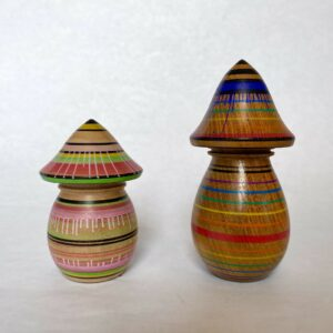 Handcrafted Wooden Painted Mushrooms By Phil Cottell