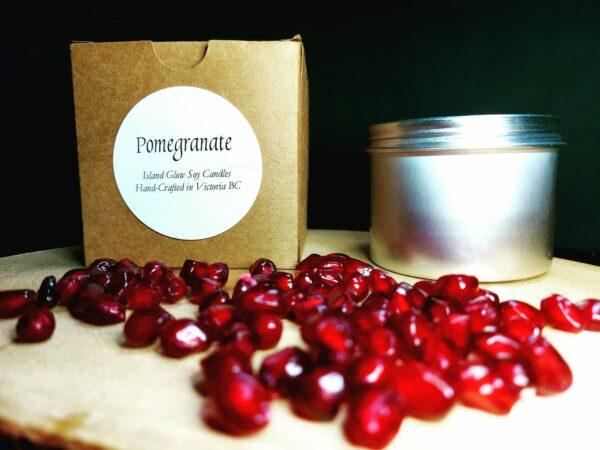 Pomegranate Organic Soy Candle – 4oz