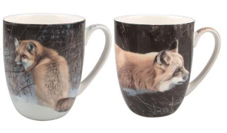Robert Bateman Foxes Mug Pair