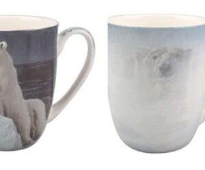 Robert Bateman Polar Bears Mug Pair from McIntosh