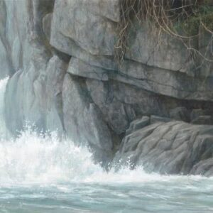 Fishing Hole - Grizzly - Signed Limited Edition Print by Robert Bateman