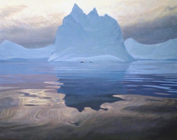 Antarctic Evening - Humpback Whales - Signed Limited Edition Giclee Canvas Print by Robert Bateman