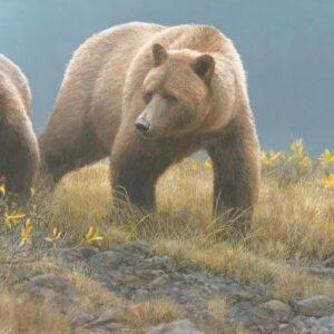 Alaska Light - Grizzly Bears - Signed Limited Edition Print by Robert Bateman