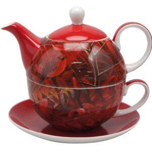 Robert Bateman Cardinal & Sumac Tea for One Teapot & Cup by McIntosh