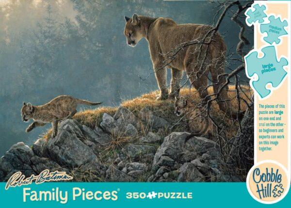 Excursion - Cougar & Kits Robert Bateman Family Puzzle - 350 Piece