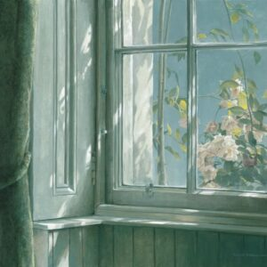 Manor House - Wren and Roses - Signed Limited Edition Print by Robert Bateman