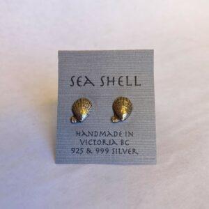 Sterling Silver Sea Shell Earrings By Susan Ellenton