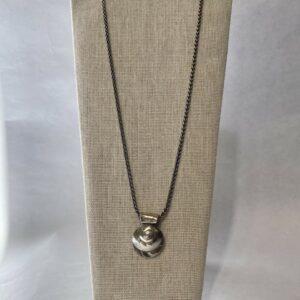 Sterling Silver Moon Snail Necklace by Susan Ellenton