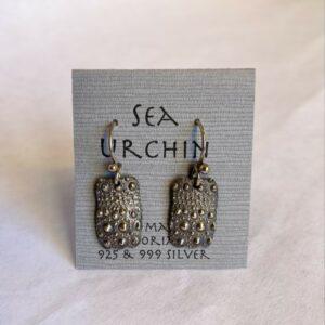 Sterling Silver Sea Urchin Earrings By Susan Ellenton
