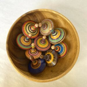Handcrafted Wooden Spinning Tops by Phil Cottell