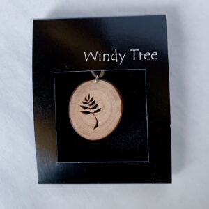 Leaf Arbutus Tree Pendant Necklace by Ro Walton - Windy Tree