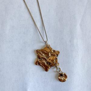 Bronze Star Bark Pendant by Susan Jean Whyte