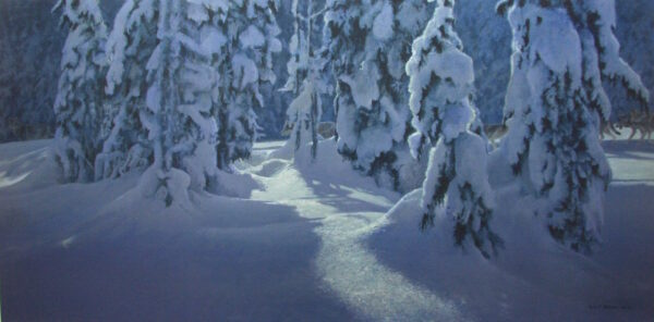Deep Winter - Wolves - Signed Limited Edition Print by Robert Bateman