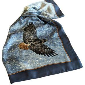Robert Bateman Silk Scarf - Sudden Blizzard - Red Tailed Hawk