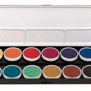 Fine-Tec Watercolour Paint Set of 12 Opaque Colours with Brush
