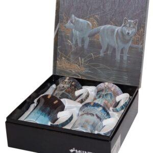 Robert Bateman Set of 4 Wolf Mugs from McIntosh