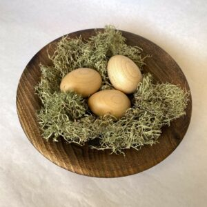 Handcrafted Wooden Egg Nests by Phil Cottell